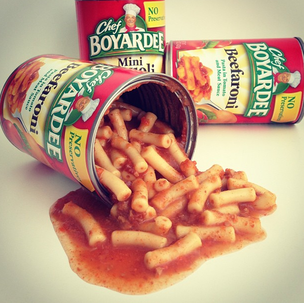 Chef Boyardee Cans